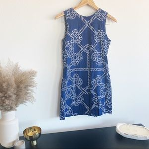 Love, Lilly   Meredith Dress in Navy Ropes